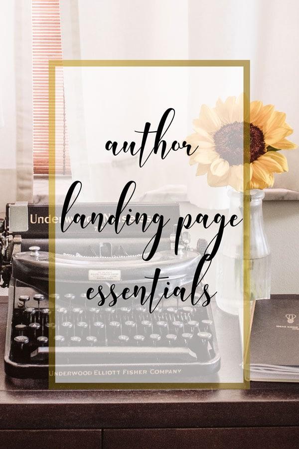 WPD Media Author's Landing Page Essentials